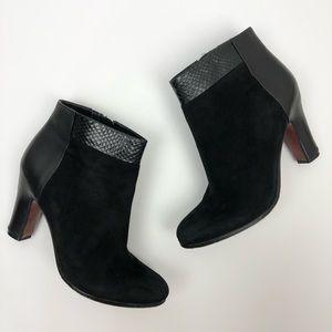 Sam Edelman Shay Snakeskin Ankle Boots Black 8